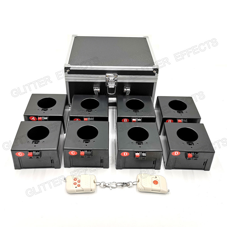D08 Eight channel double remote control cold fountain base firing system fireworks