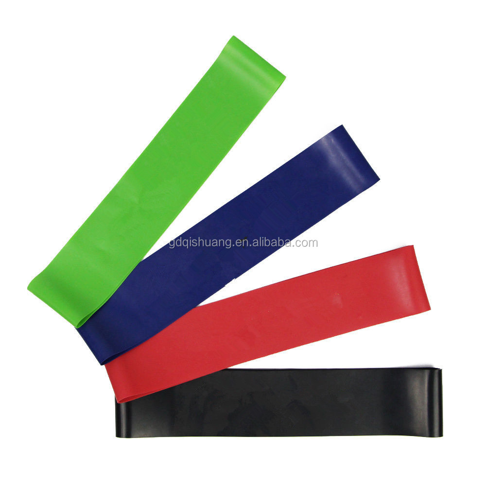 2017 popular natural latex colorful stretch power a set 5pcs fitness loop resistance bands set