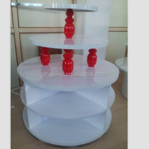 Popular Wooden 3 tier Round Display Table for Retail clothes Store