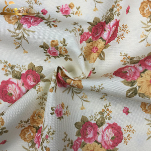 Floral design linen look Custom Mexico print fabric for furniture