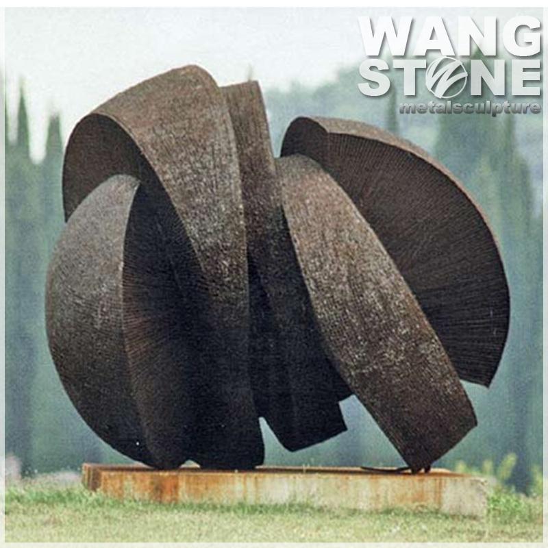 Large Modern Garden Sculptures: Modern Corten Steel Garden Metal Large Outdoor Sculptures