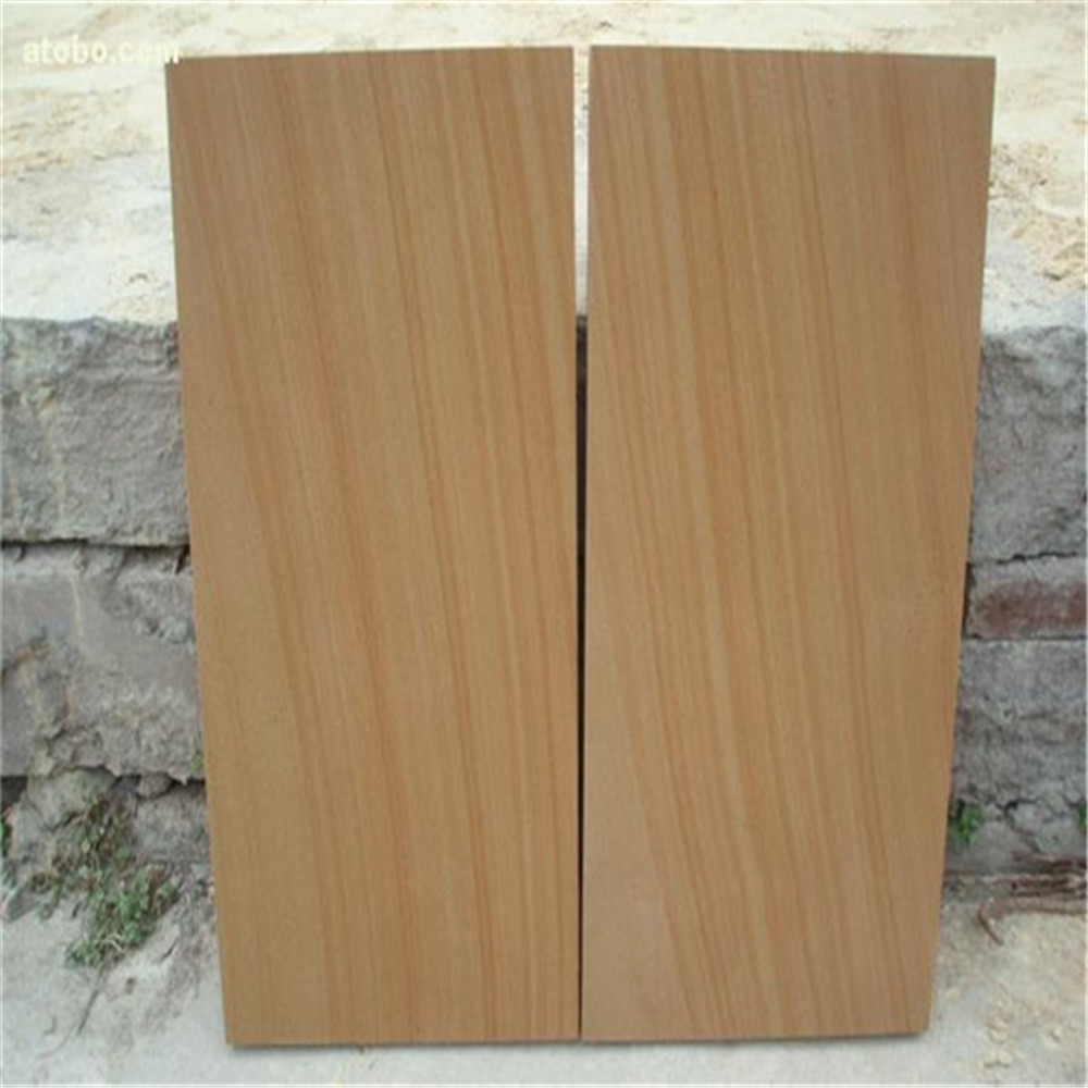 Light yellow sandstone sand blast paving stone
