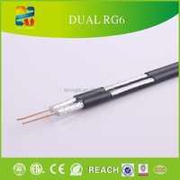 Premium performance 75Ohm Satellites and Coaxial Cables Dual RG6 for CCTV/CATV (CE,ETL,UL approved)