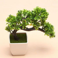 ANTIQUE ARTIFICIAL POTTED TREE JAPANESE BONSAI PINE TREE LOOKS REAL