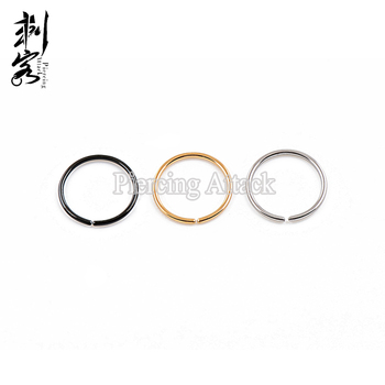 Titanium Anodized Steel Clip On Nose Hoop Flexible Non Piercing