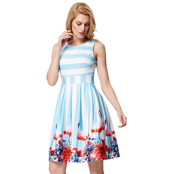 27a7c3a214 Graça Karin Mulheres Retro Vintage Vestidos de Festa de Verão 2018 Vestido  Estampado Floral Vestido Rockabilly