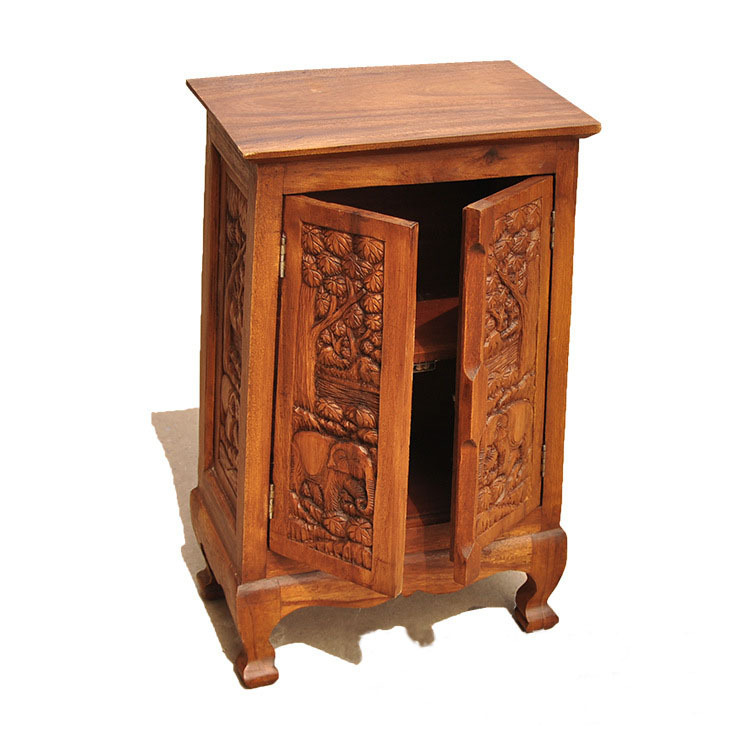 Get Quotations · Southeast Asian Elephant Carved Altar Carved Wood Cabinets  Living Room Restaurant Curio Cabinet Entrance Cabinet Home Part 62