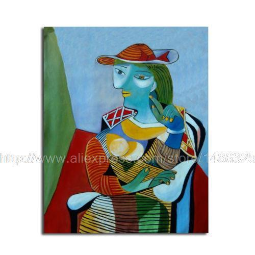 Reproduction Colorful Woman Of Picasso Style Canvas Painting For Decor Modern Painting Art Painting Modern Art Andy Warhol