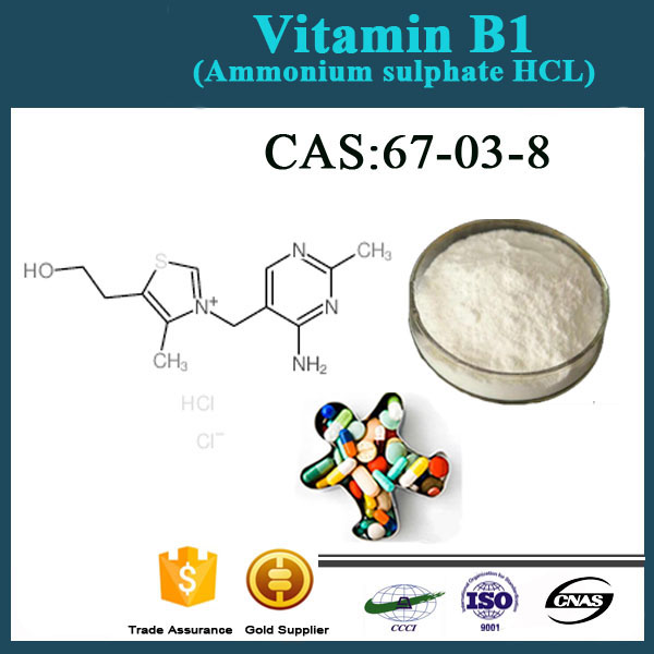 ISO Factory supply high quality feed / food /Pharmaceutical grade Vitamin B1 HCL /Thiamine Hydrochloride powder CAS :67-03-8