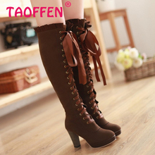 Free shipping over knee boots high heel shoes winter fashion sexy warm long women boot pumps P2415 on sale size 34-39