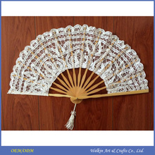 Custom printed folding silk hand fan, Cheap china factory price hand fan for wedding, Promotion gift manual bamboo hand fan