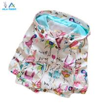 Spring 2016 New Cotton Baby Girls Cardigan Coat Spend Three Flowers Lollipops Dot Jacket Cardigan Kids Children Clothing Autumn