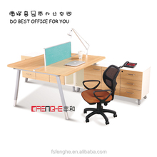 Modern Stainless Steal 4 People Open Office Workstation Furniture YH-644
