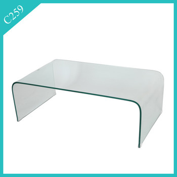 2016 modern hot bent tempered glass coffee table - buy tempered