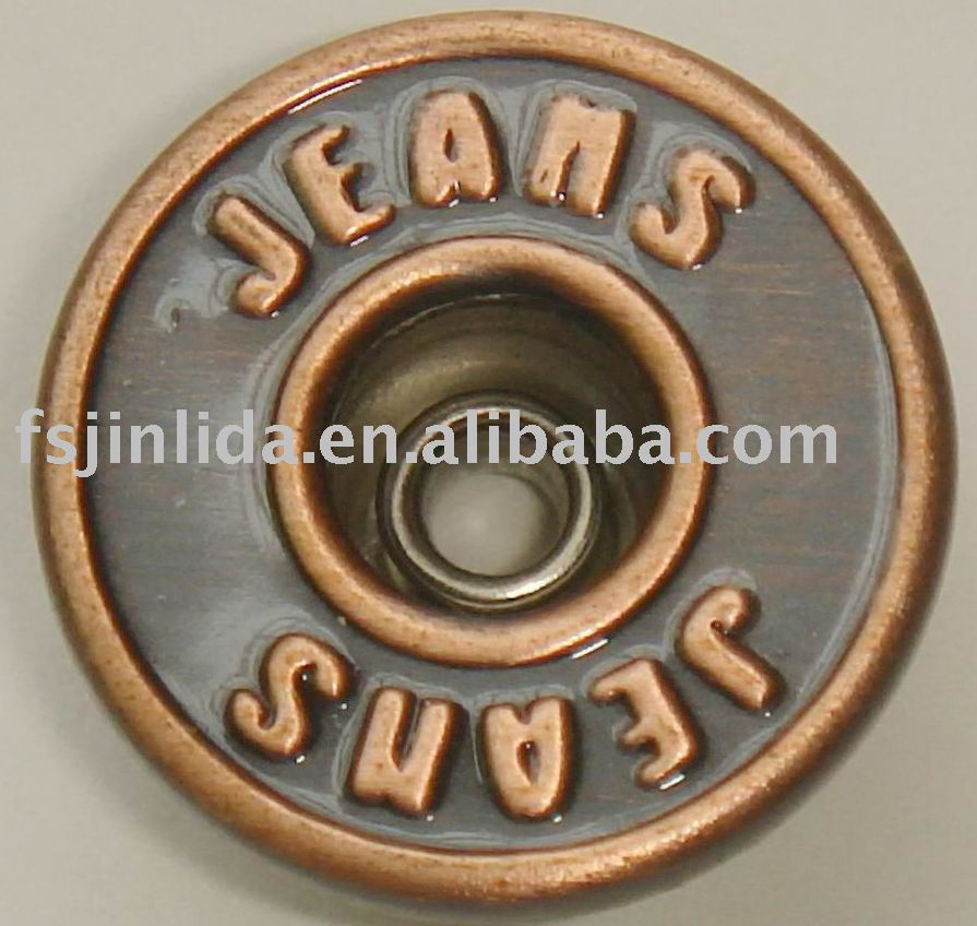 Foshan 20mm Brass High Side Plating Decorating Buttons