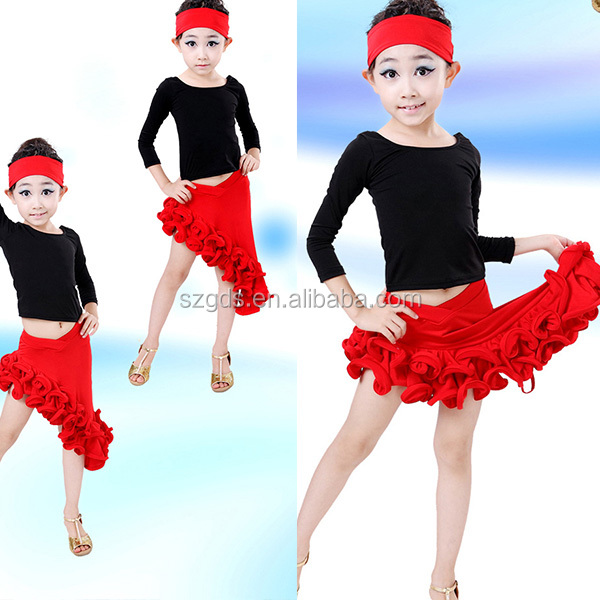 Autumn and winter comfortable latin ballroom dance dresses for the children girl