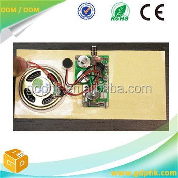 greeting card mini voice recorder chip record voice chip wedding card pre-record chip voice module