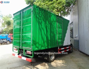 CLW5070XXYD3 Dongfeng 3 tons 4 tons load capacity bulk cargo truck dry goods box truck dimension for hot sale