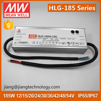 185W LED Power Supply 12V 13A HLG-185H-12B Meanwell LED Driver Dimmable 12V IP67