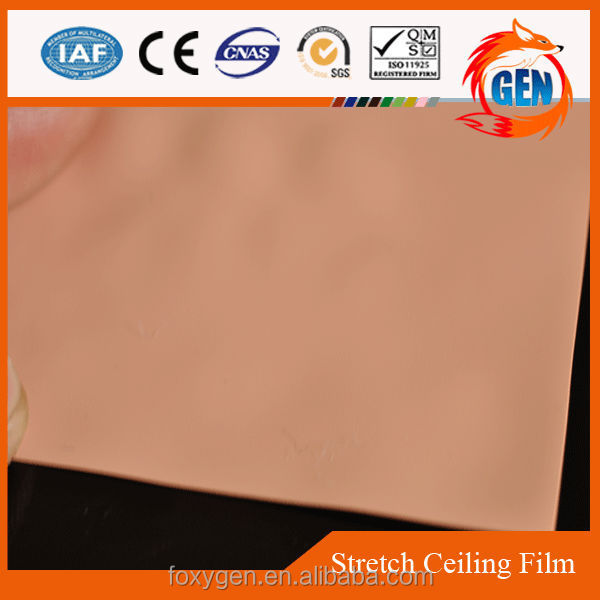 Different colors indoor paint protection PVC film for ceiling 1.5 - 5.0 meters width manufactured in Foshan for office