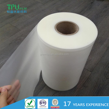 Hot sale 85A transparent tpu film for medical outdoor products manufacturer