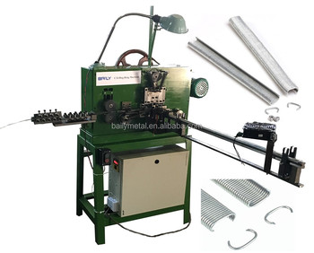 High speed fully automatic c shape nail /Hog Ring /c ring staples making machine