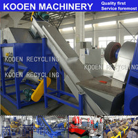 KOOEN best price strong quality PET Flakes Bottles Washing Recycling Machinery