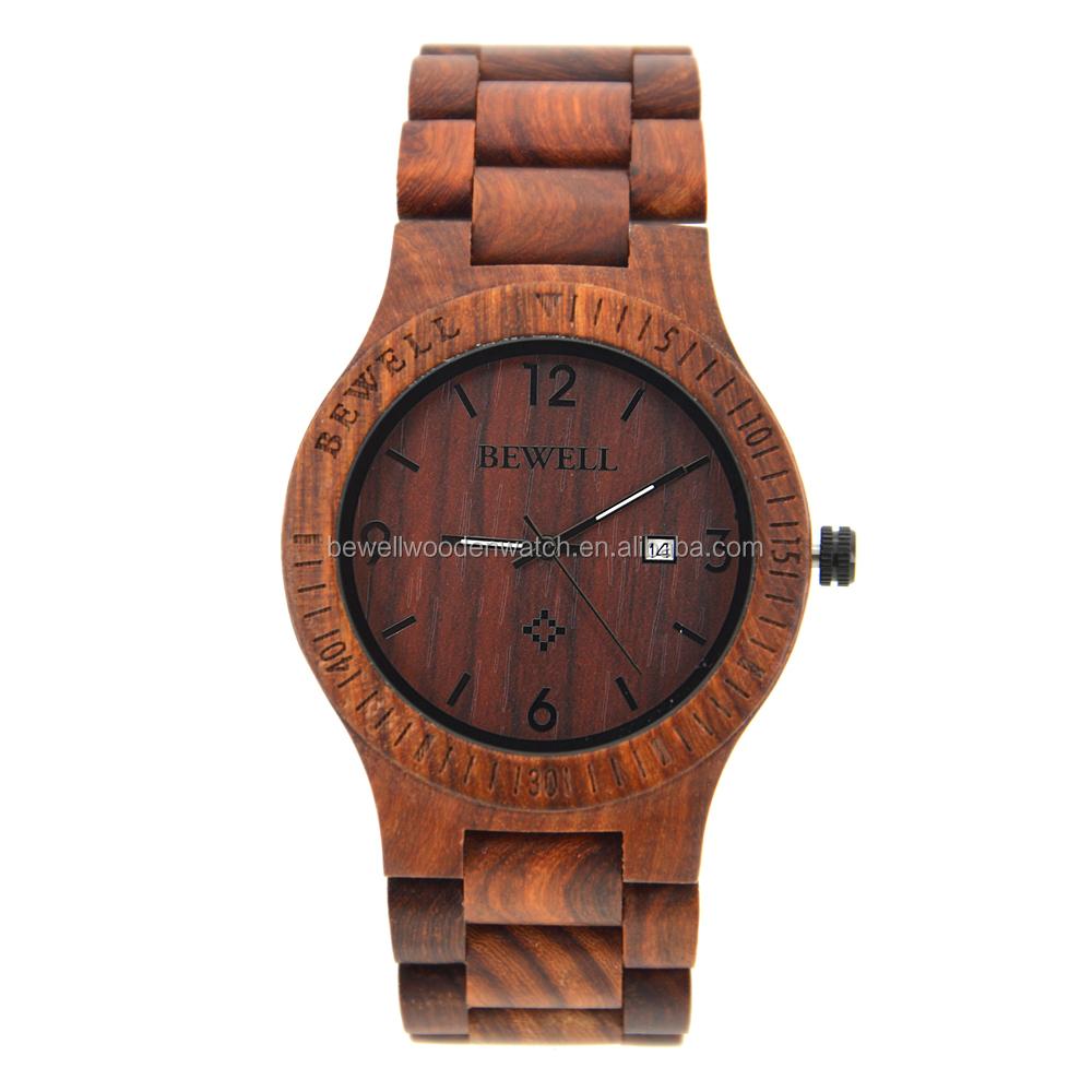 5b065b001bf Louco de venda braço usando a madeira real relógio OEM sua própria marca de  relógios