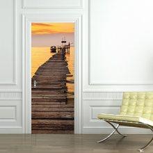77x200 см библиотеки наклейки на дверь самоклеющиеся наклейки для двери пилинг и палка Обои DIY домашний декор наклейка ремонт(Китай)