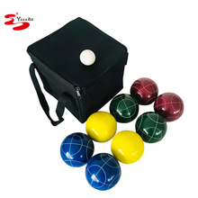YUANHE Deluxe achtertuin hars 90mm bocce <span class=keywords><strong>bal</strong></span> van 8 stks set achtertuin custom bocce Set met 8 Ballen