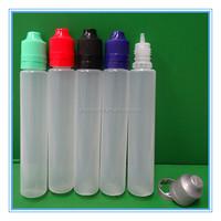 30 ml Unicorn Bottle 30ml PE BLACK plastic e liquid empty juice needle drip with cap