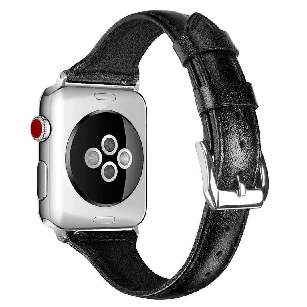 For Apple Watch Band 42mm 38mm,Tiean Luxury Leather Sport Strap Replacement Band For Apple Watch Series 1/2/3 (black, 42mm)