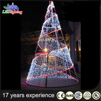 2017 Hot sale artificial metal spiral christmas tree