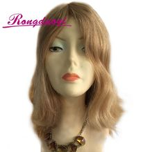 Blonde Color Natural Straight 16 Inches 100% European hair Jewish Wigs human hair wig