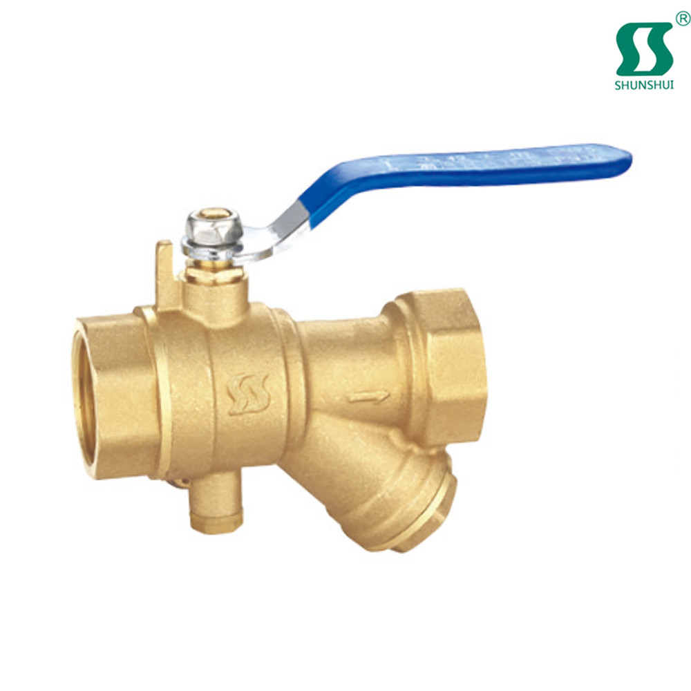 Air filter regulator in control valve time clock water brass strainer