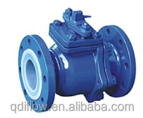 Fluorine Lining Ball Valve Cast Steel/Cast Iron/Stainless Steel