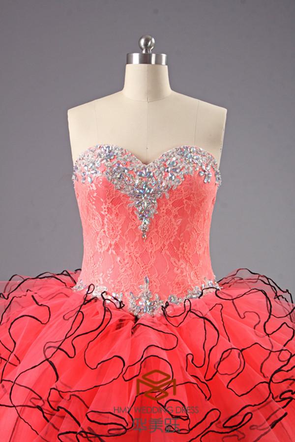 Suzhou Alibaba Vestido Rojo De Bola Del Amor Vestidos De Baile ...