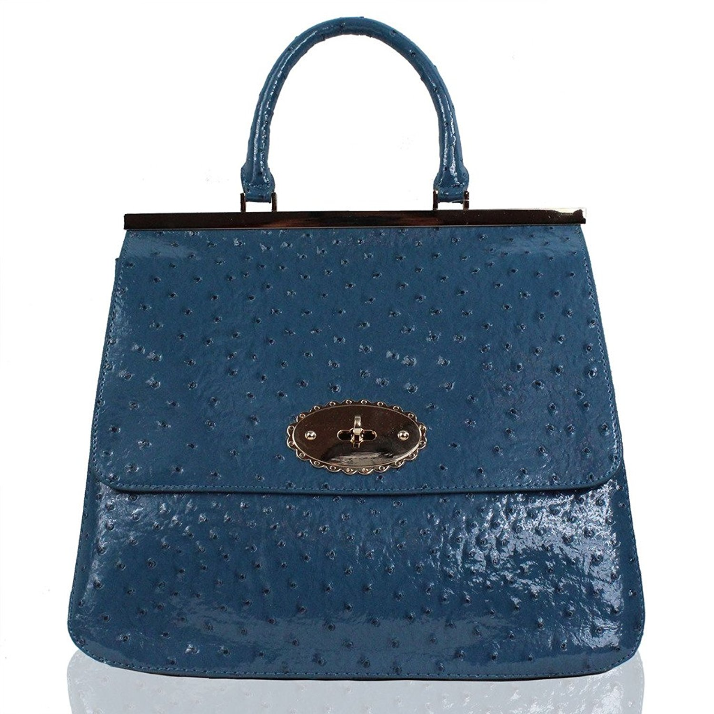 f3f68fef78b4 Get Quotations · Womens Designer Bags Ostrich Ladies Handbags Satchel Faux  Leather Shoulder Bag