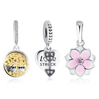LZESHINE Magnolia Bloom Love Struck Tree Of Life Hanging Charms Bracelet Making