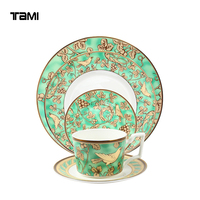 Royal Full Printing Wholesale fine porcelain dinner set Dinner plate dinnerware sets