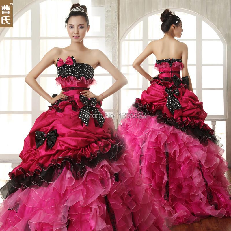 Robe De Mariee Rose Et Noire Robes à La Mode Et Populaires