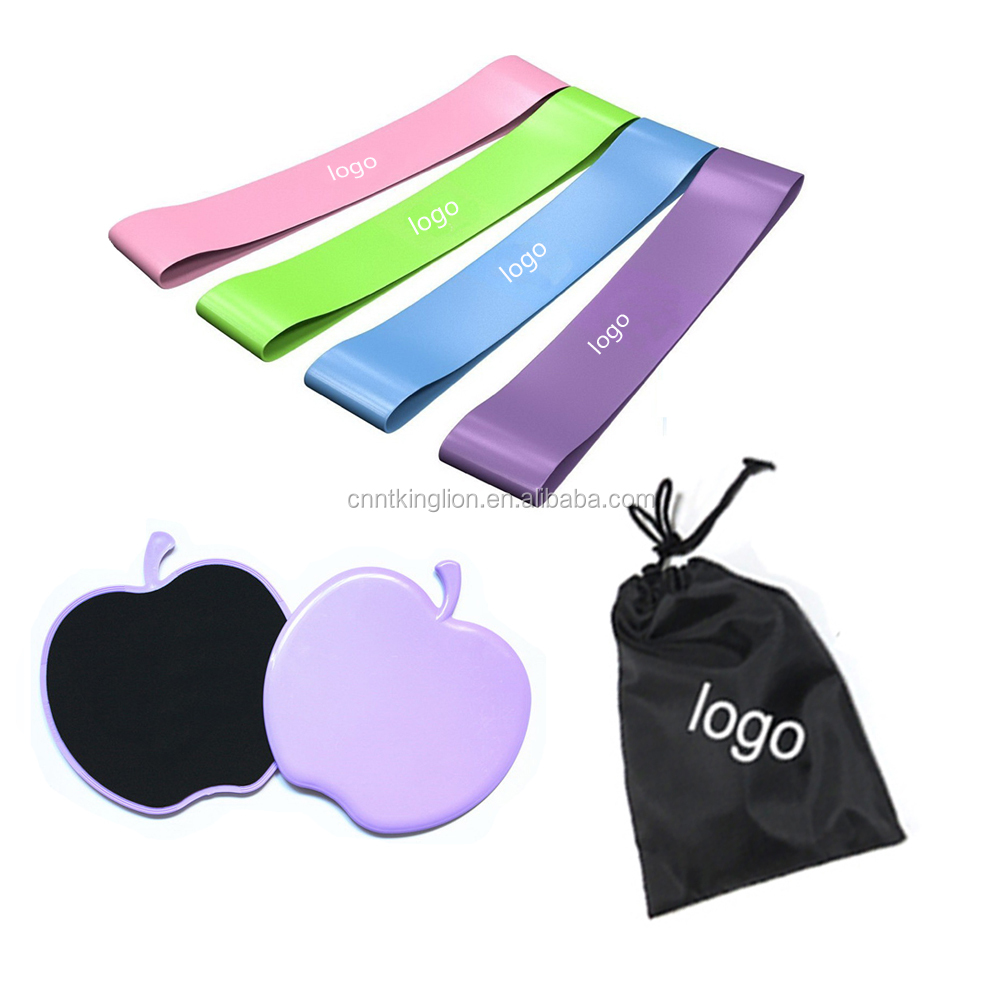 Gym Home Abdominal Total Body Workout Gliding Discs Core Sliders Exercise Resistance Loop Bands