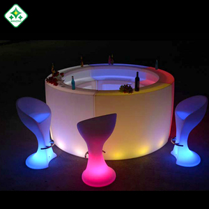 Acrylic design hotel nightclub round wine bar illuminated led bar counter