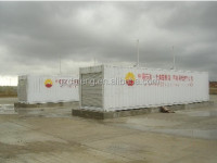 ISO certificated 40ft container mobile petrol station, convenient removal with tank overfill proof protection