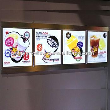Fast Food Light Box/led Acrylic Menu Board/restaurant Equipment ...