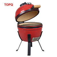 Outdoor portable Mini 14 inch kamado Round Shaped ceramic charcoal BBQ