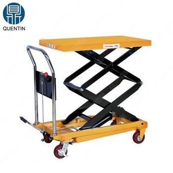 Hydraulic Manual Scissor Lift Table Trolley / Hydraulic Trolley Lift - Buy  Hydraulic Trolley Lift,Scissor Lift Trolley,Manual Scissor Lift Table