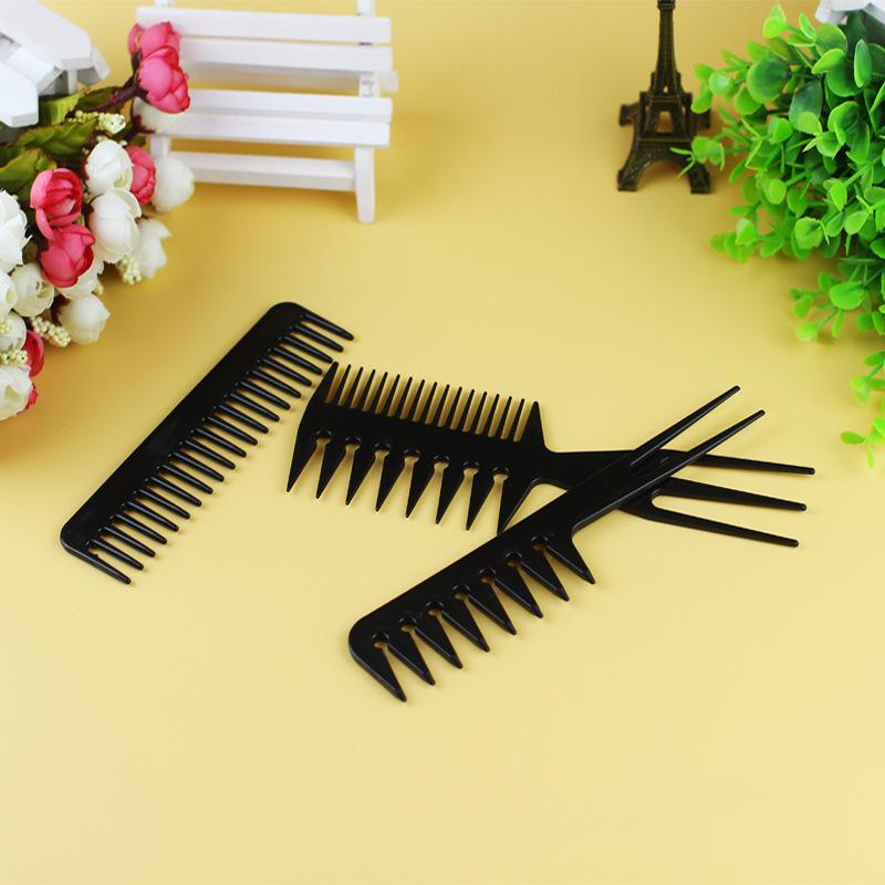 10 ชิ้น/เซ็ตหวีผมพลาสติกชุด Salon Barber แปรงหวี Anti - static Hairbrush ชุดเครื่องมือจัดแต่งทรงผมสำหรับผม salon