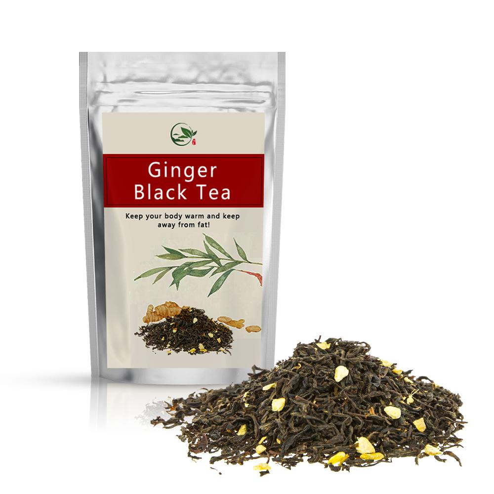 Organic Custom Best Herbal Loose Honey Ginger Black Tea Health Benefits Natural Flavor Flavored Loose Blended Tea USDA - 4uTea | 4uTea.com