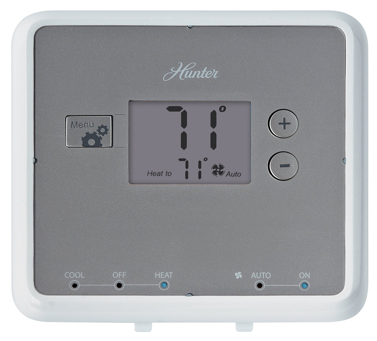 Get Quotations · Hunter 42122 5-Minute Digital Non-Programmable Thermostat,  White